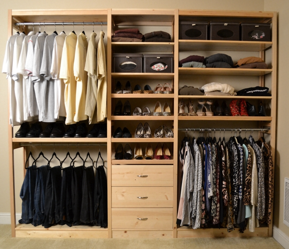 Reach in closets Pictures of closet organizers
