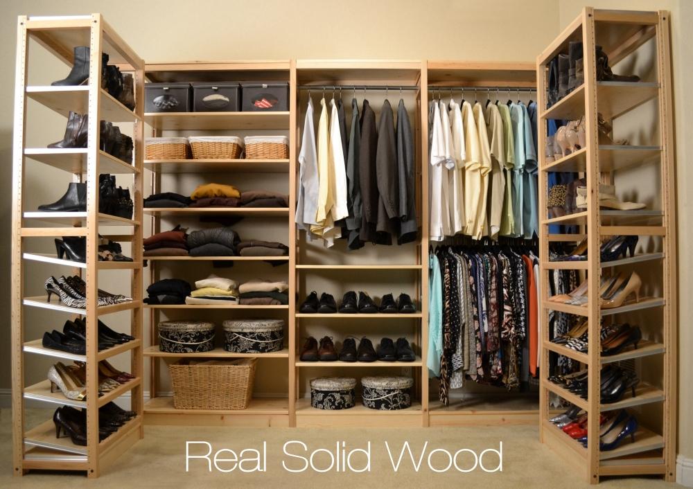 Delightful Solid Wood Closet Organizers